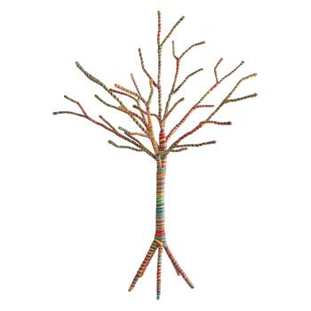 Habitat Arran Multi-Coloured Wool-Wrapped Christmas Tree 1.8ft (Height 58cm)