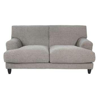 Habitat Askem Natural Woven Stripe Linen 2 Seater Sofa (86 x 180cm)