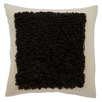 Habitat Banks Black And White Looped Pile Cushion (H50 x W50cm)