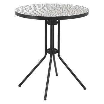 Habitat Becklen Black Bistro Table With Mosaic Top (72 x 70cm)