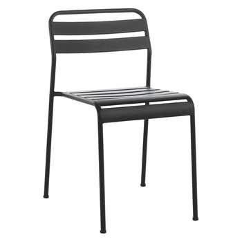 Habitat Becklen Black Metal Garden Chair (77 x 42cm)