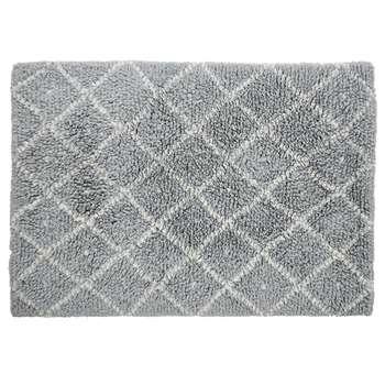 Habitat Berber Handwoven Wool Rug - Light Grey (H140 x W200cm)