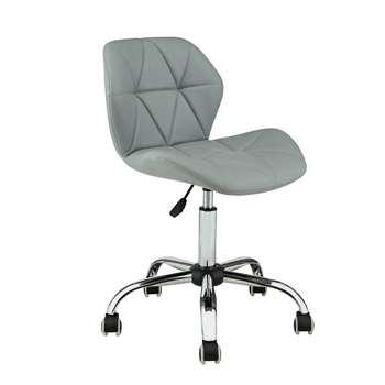 Habitat Boutique Faux Leather Office Chair - Grey (H87 x W49 x D52cm)