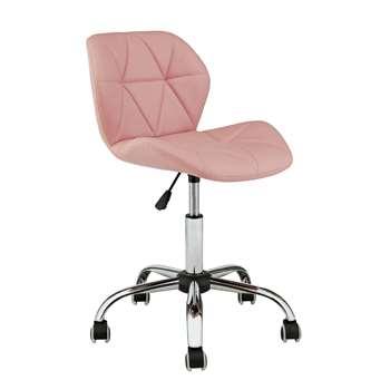 Habitat Boutique Faux Leather Office Chair - Pink (H87 x W49 x D52cm)