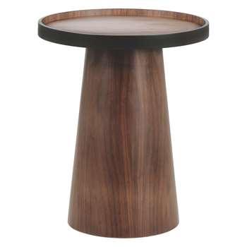 Habitat Brodi Walnut Side Table (Diameter 46cm)