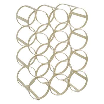 Habitat Caden Cream 12 Bottle Wine Rack (35 x 26.5cm)
