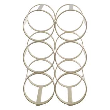 Habitat Caden Cream 6 Bottle Wine Rack (26.5 x 17.5cm)