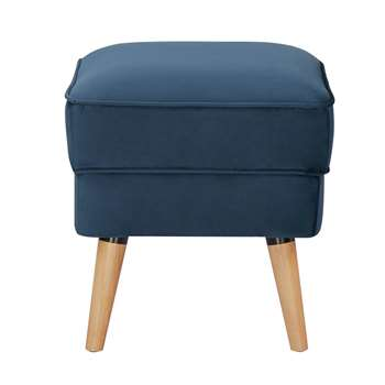 Habitat Callie Fabric Footstool - Petrol Blue (H44.5 x W45.5 x D45.5cm)