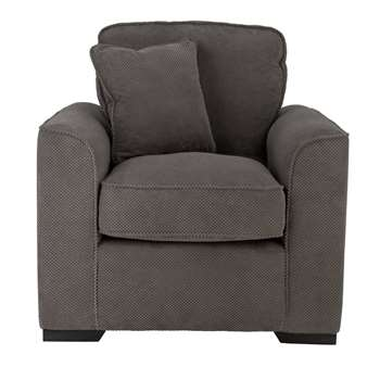 Habitat Carson Fabric Armchair - Grey (H72 x W86 x D94cm)