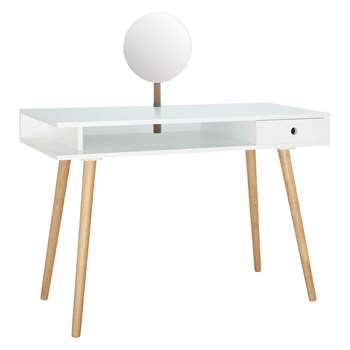 Habitat Cato Large White Dressing Table With Mirror 77 x 45cm