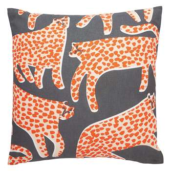 Habitat Cheetah Multi-Coloured Patterned Cushion (H45 x W45cm)