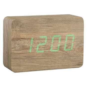 Habitat Click Clock Ash LED Alarm Clock (10 x 15cm)