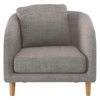 Habitat Colby Black And White Italian Woven Fabric Armchair (77 x 90cm)