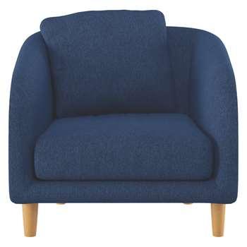 Habitat Colby Blue Fabric Armchair (77 x 90cm)
