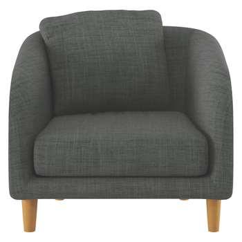 Habitat Colby Charcoal Italian Woven Fabric Armchair (77 x 90cm)