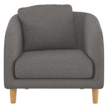 Habitat Colby Charcoal Wool Tweed Armchair (77 x 90cm)