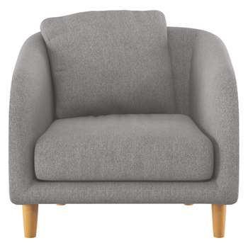 Habitat Colby Grey Fabric Armchair (77 x 90cm)