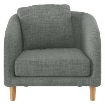 Habitat Colby Grey Italian Woven Fabric Armchair (77 x 90cm)