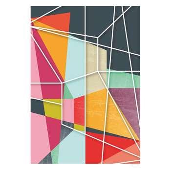 Habitat Colour Block V Print By Susana Paz (100 x 70cm)