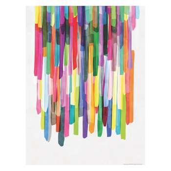 Habitat Colourful Stripes 4 cm Print By Mareike Bohmer (80 x 60cm)