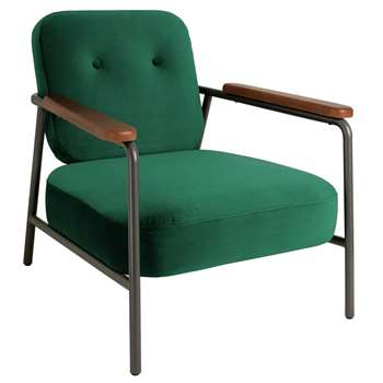 Habitat Cooper Armchair - Emerald Green (H75 x W72 x D81cm)