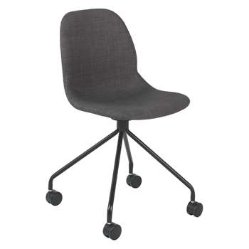 Habitat Copter Grey Upholstered Office Chair (84 x 49cm)