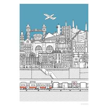 Habitat Cross Section London Print By Lizzie Prestt (70 x 50cm)