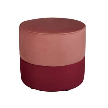 Habitat Cupcake Velvet Footstool - Pink (H45 x W50 x D50cm)