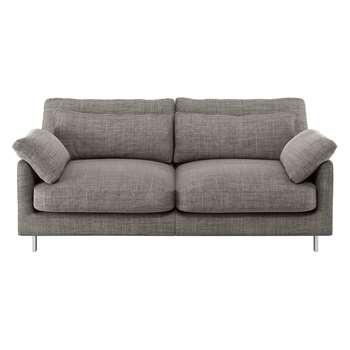Habitat Cuscino Black And White Italian Woven Fabric 2 Seater Sofa (79 x 170cm)