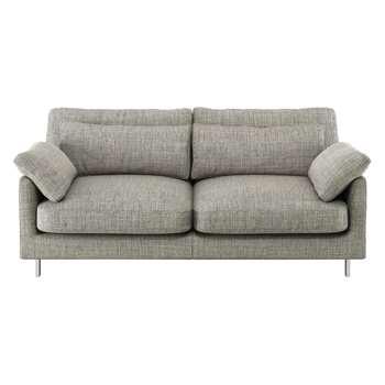 Habitat Cuscino Black And White Textured Fabric 2 Seater Sofa (79 x 170cm)