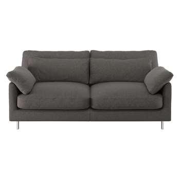 Habitat Cuscino Charcoal Herringbone Wool Mix 2 Seater Sofa (79 x 170cm)