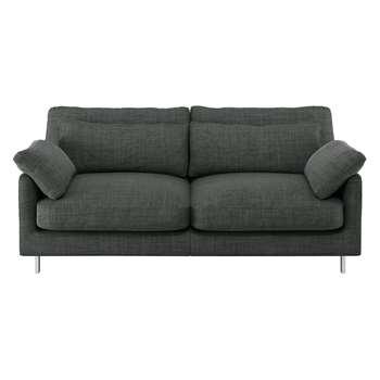 Habitat Cuscino Charcoal Italian Woven Fabric 2 Seater Sofa (79 x 170cm)