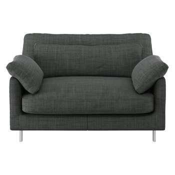 Habitat Cuscino Charcoal Italian Woven Fabric Compact Sofa (79 x 120cm)