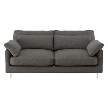 Habitat Cuscino Charcoal Tweed Wool Mix 2 Seater Sofa (79 x 170cm)
