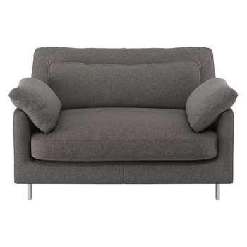 Habitat Cuscino Charcoal Tweed Wool Mix Compact Sofa (79 x 120cm)