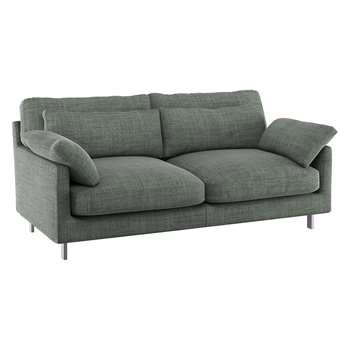 Habitat Cuscino Grey Italian Woven Fabric 2 Seater Sofa (79 x 170cm)