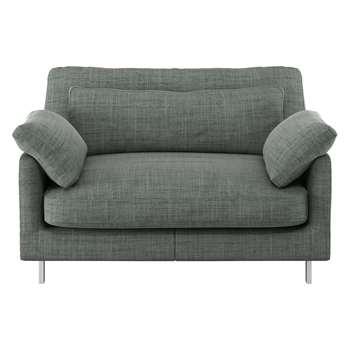 Habitat Cuscino Grey Italian Woven Fabric Compact Sofa (79 x 120cm)