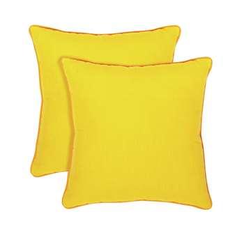 Habitat Cushion 2 Pack - Yellow (H45 x W45 x D11cm)