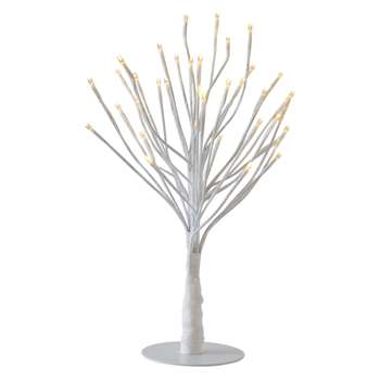 Habitat Daphne Small White Multi-Function 48 LED Christmas Tree