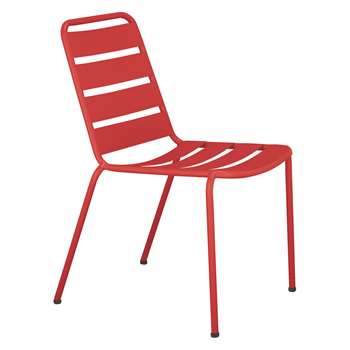 Habitat Darwin Red Stackable Metal Garden Chair (H83 x W47 x D50cm)