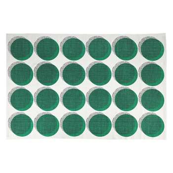 Habitat Dot Small Green Printed Rug (120 X 180cm)
