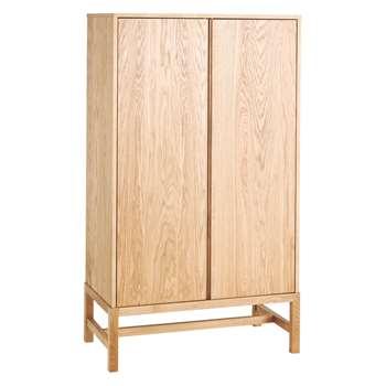 Habitat Drio Oak 2 Door Cabinet 75 x 180cm