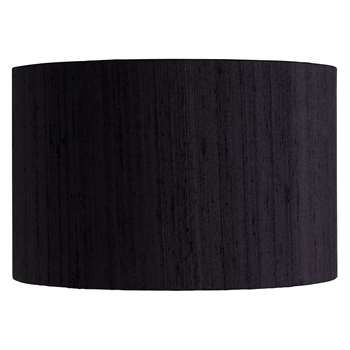 Habitat Drum Silk Black Silk Drum Lampshade Small (16 x 25cm)