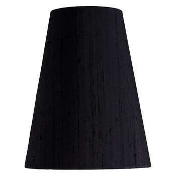 Habitat Drum Silk Black Silk Tapered Lampshade Small (22 x 18cm)