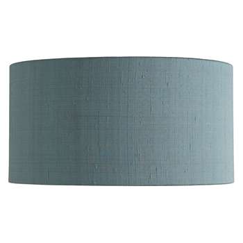 Habitat Drum Silk Green Silk Drum Lampshade Medium (18 x 35cm)