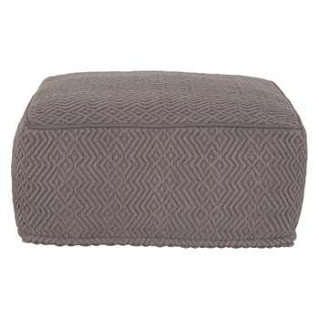 Habitat Durrie Charcoal Floor Cushion (25 x 55cm)