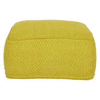 Habitat Durrie Saffron Floor Cushion (H25 x W55 x D55cm)
