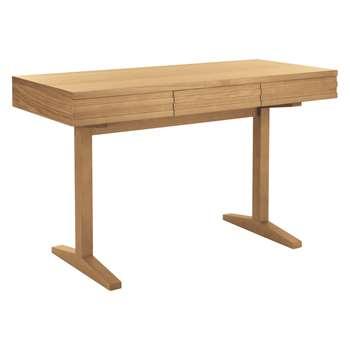Habitat Enzo 3 Drawer Oak Desk (77 x 130cm)