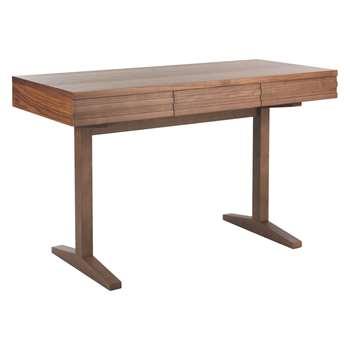 Habitat Enzo 3 Drawer Walnut-Stained Desk (77 x 130cm)