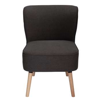 Habitat Eppy Fabric Accent Chair - Charcoal (H80 x W58 x D64cm)